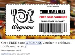 target offering 30 discount on wegmans a target of another online scam