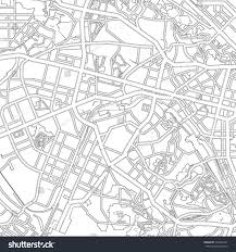 Black And White Map Black White Drawing Map City Kiev Stock Vector 534365431