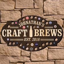 Liquor Signs by Craft Brews Custom Beer Cap Bar Sign Signature Series