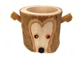 rustic pencil holder fox bark wood pencil cup tree bark pen holder