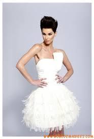 robe de mariã e courte pas cher robe courte bustier en satin et tulle décorée de plis robe de