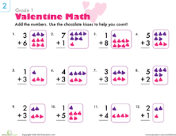 heart math 10 valentine u0027s worksheets education