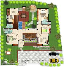 House Plans Designs Eco Friendly Single Floor Kerala Villa Kerala Home Design And
