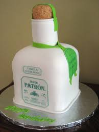 birthday tequila silver patron tequila bottle cakecentral com
