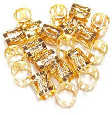 hair clasps dreadlock braiding gold plated metal cuffs hair