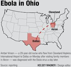 Map Ohio State by Ohio State Monitors Ebola After Infected Patient Traveled Through