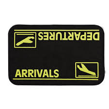arrivals and departures doormat from sporty u0027s pilot shop