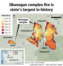 Wildfire Map August 2015 by Okanogan Complex Wildfire Now Biggest In State History The