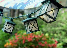 Where To Buy Patio String Lights Set Of 10 Colonial Lantern Led String Lights Warm White Lights