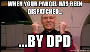 Star Trek Meme Generator - when your parcel has been dispatched by dpd joyful star