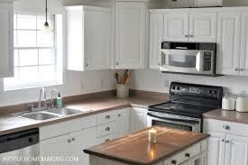 how to install kitchen backsplash how to install a beadboard kitchen backsplash artful homemaking