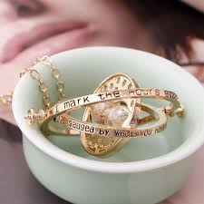hermione necklace images Hermione time turner hourglass pendant necklace poprocking jpg
