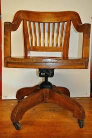 Oak Office Chair Design Ideas Vintage Wood Swivel Office Chair Vintage Swivel Oak Desk Chair