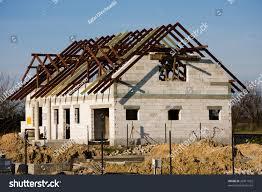 single family house under construction stock photo 26811922