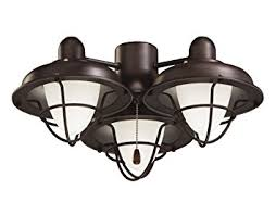 Light Fixtures With Fans Emerson Ceiling Fan Light Fixtures Lk40orb Boardwalk Cage Ceiling