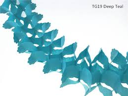 wedding backdrop accessories 3pcs lot 11ft teal expanded tissue paper flower garland