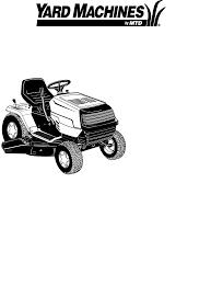 yard machines lawn mower 690 thru 699 user guide manualsonline com