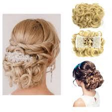 big bun hair rockstar wigs 16colors synthetic hair big bun chignon two