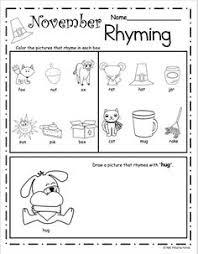 halloween rhyming worksheet u2013 free literacy building page for