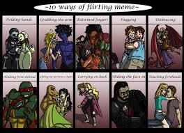 Flirting Meme - flirting meme by r2ninjaturtle on deviantart