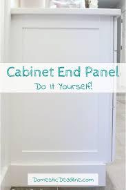 end of kitchen cabinet ideas diy cabinet end panels domestic deadline