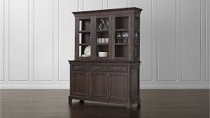 winnetka dark mahogany buffet with hutch crate and barrel