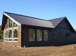garage natural wood and dark metal barn homes with glass window