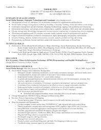 Resume With Summary Resume Summary Sample Transportation Entry Level It Resume Sample