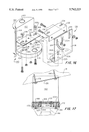 patent us5762223 electrical for ceiling fan support google