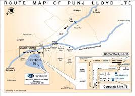 Gurgaon India Map by India Punj Lloyd Group