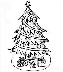 coloring page of christmas tree with presents free printable christmas tree coloring pages for kids