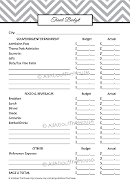 trip planner template travel planner allaboutthehouse printables travel budget filled in 1