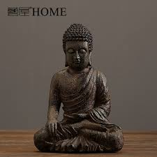 Buddha Room Decor India Style Hand Made Resin Buddha Sculpture Home Furnishing