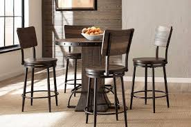 Hillsdale Jennings Swivel Counter Stool Walnut WoodBrown Metal - Counter height dining table swivel chairs