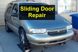 sliding door repair catches when opening roller assembly