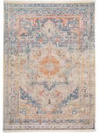 Wohnzimmer Mit Teppichboden Einrichten Der Wunderschöne Vintage Teppich Safira Blau Lässt Sich Perfekt
