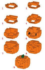 halloween legos how to build a 3d lego halloween pumpkin