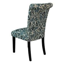 Teal Dining Chairs by Amazon Com Monsoon Pacific Voyage Upholstered Dining Chairs Blue