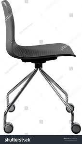 Designer Swivel Chair - gray color plastic chair modern designer stock photo 657437758