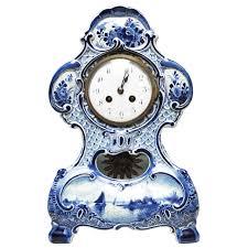 Mantel Clocks Delft Porcelain Mantel Clock For Sale At 1stdibs