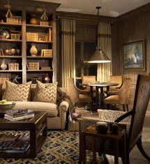 Masculine Arrangements Family Room Traditional With Wainscoting - Family room sets