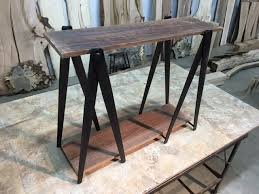 iron horse table base perfect tall accent table with hand forged steel sawhorse table with