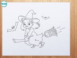 how to draw a cute witch youtube
