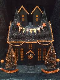 ooak light up like department 56 putz haunted house