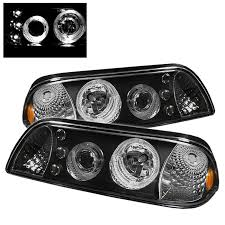 mustang projector headlights ford mustang 87 93 led 1pc projector headlights black
