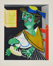 pablo picasso femme verte au green woman with cat