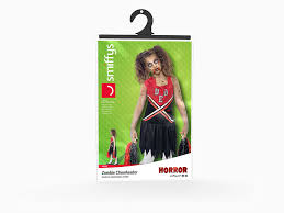 Halloween Costumes Dead Cheerleader Smiffy U0027s Children U0027s Zombie Cheerleader Costume Blood Stained