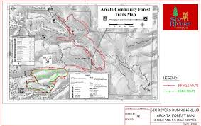 Matthiessen State Park Trail Map by Six Rivers Running Club