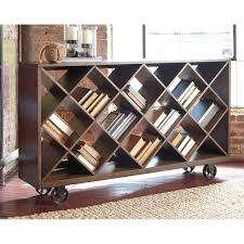 Industrial Style Furniture by Shelf Console Table With Angled Open Compartments U0026 Industrial