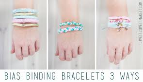 make bracelet simple images Live it love it make it make it bias bracelets 3 ways jpg